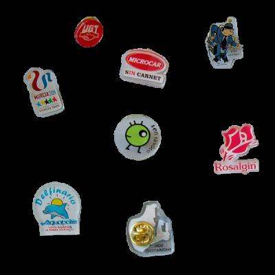 Pins promocionales de metacrilato